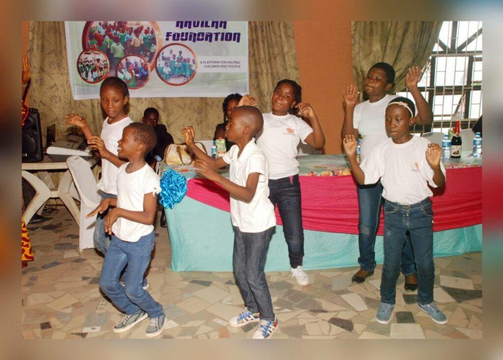 children dancing at