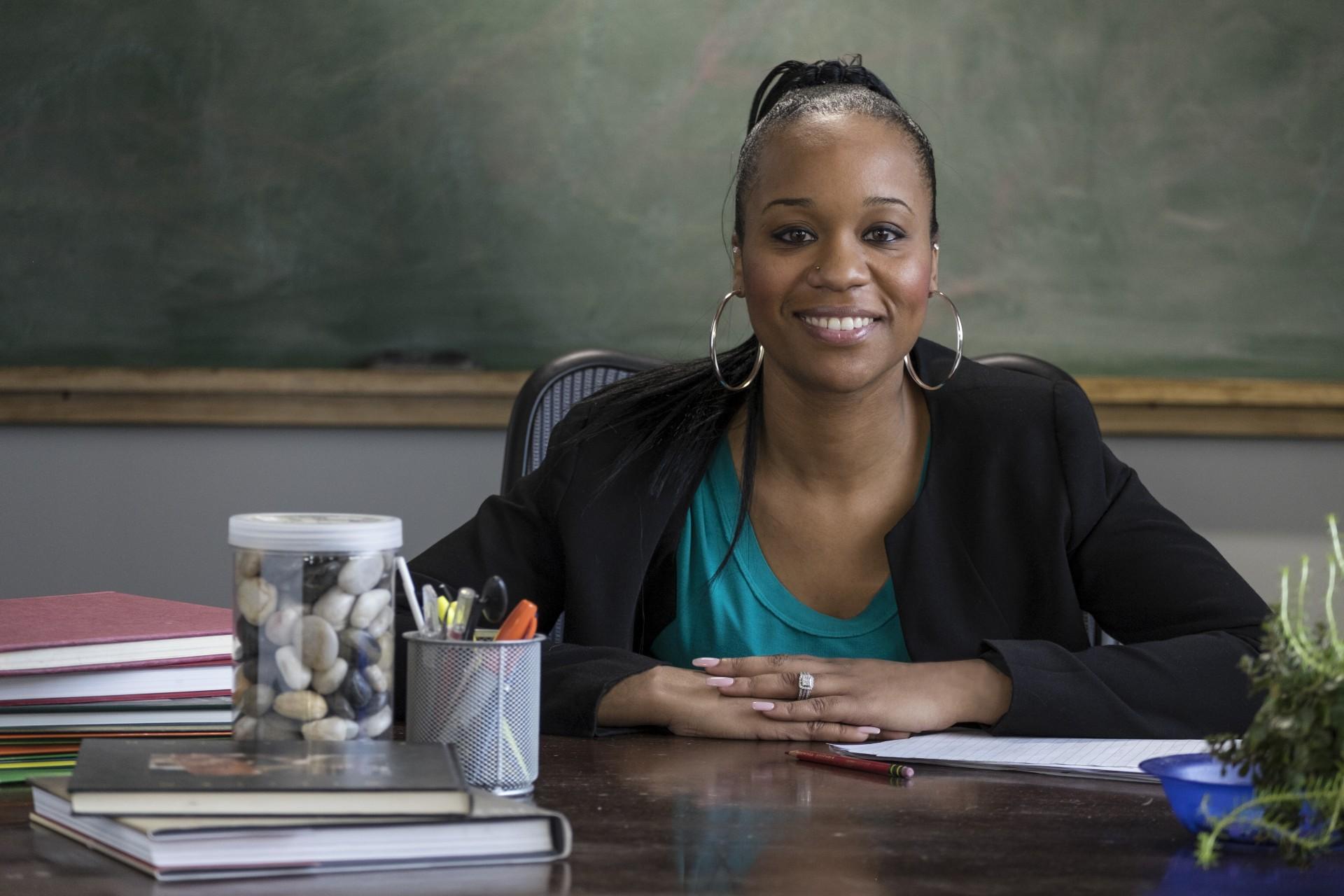 female african teacher