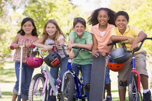 friends riding their